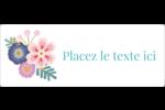Gros motifs floraux Étiquettes D'Identification - gabarit prédéfini. <br/>Utilisez notre logiciel Avery Design & Print Online pour personnaliser facilement la conception.