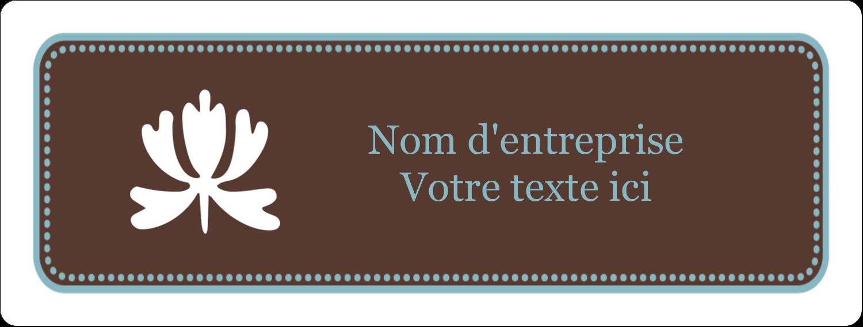 """2⅝"""" x 1"""" Étiquettes Voyantes - Bordure en brun et bleu"""