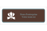 Bordure en brun et bleu Étiquettes Voyantes - gabarit prédéfini. <br/>Utilisez notre logiciel Avery Design & Print Online pour personnaliser facilement la conception.
