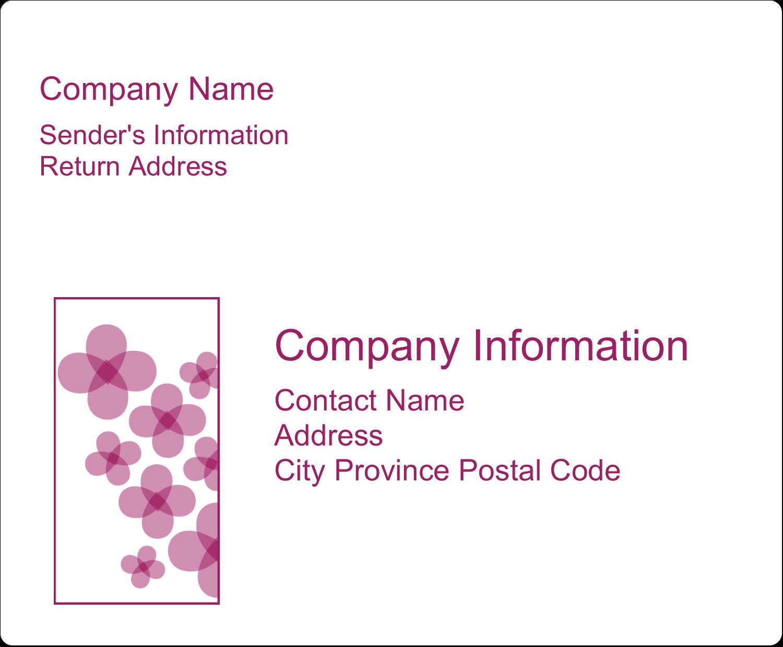 "4"" x 3⅓"" Shipping Label - Purple Blossoms"