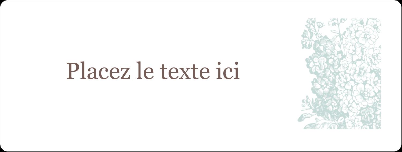 """2⅝"""" x 1"""" Étiquettes Voyantes - Fleur bleue"""
