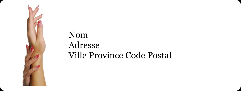 """1"""" x 4"""" Étiquettes d'adresse - Soins de beauté"""