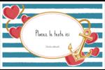 Ancre de Saint-Valentin  Cartes de souhaits pliées en deux - gabarit prédéfini. <br/>Utilisez notre logiciel Avery Design & Print Online pour personnaliser facilement la conception.