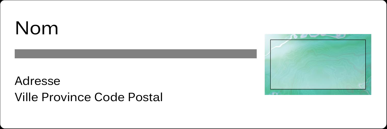 """1⅓"""" x 4"""" Étiquettes d'adresse - Agate"""