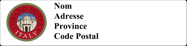 """1"""" x 4"""" Étiquettes d'adresse - Voyage d'antan"""