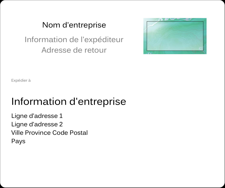 """3⅓"""" x 4"""" Étiquettes d'expédition - Agate"""