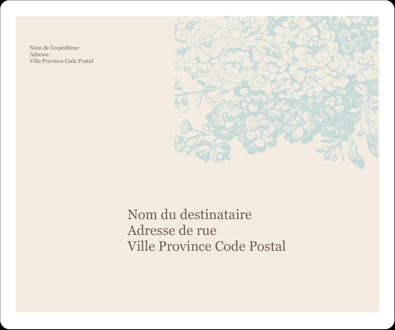 """½"""" x 1¾"""" Étiquettes D'Adresse - Fleur bleue"""