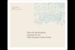 Fleur bleue Étiquettes D'Adresse - gabarit prédéfini. <br/>Utilisez notre logiciel Avery Design & Print Online pour personnaliser facilement la conception.