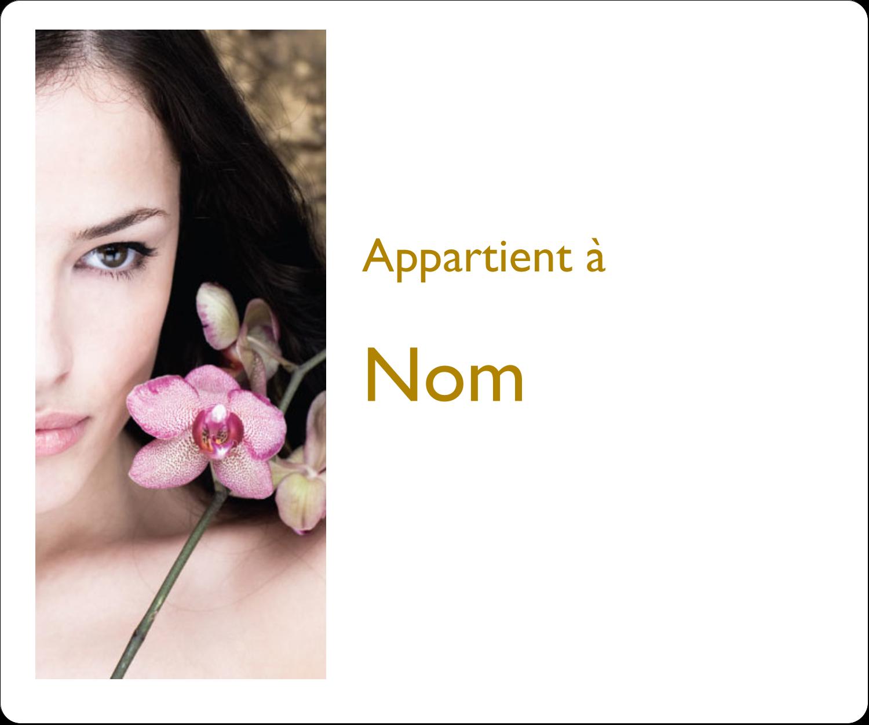 """4"""" x 3⅓"""" Étiquettes D'Identification - Femme aux orchidées"""