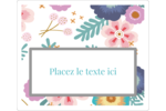 Gros motifs floraux Étiquettes de classement - gabarit prédéfini. <br/>Utilisez notre logiciel Avery Design & Print Online pour personnaliser facilement la conception.
