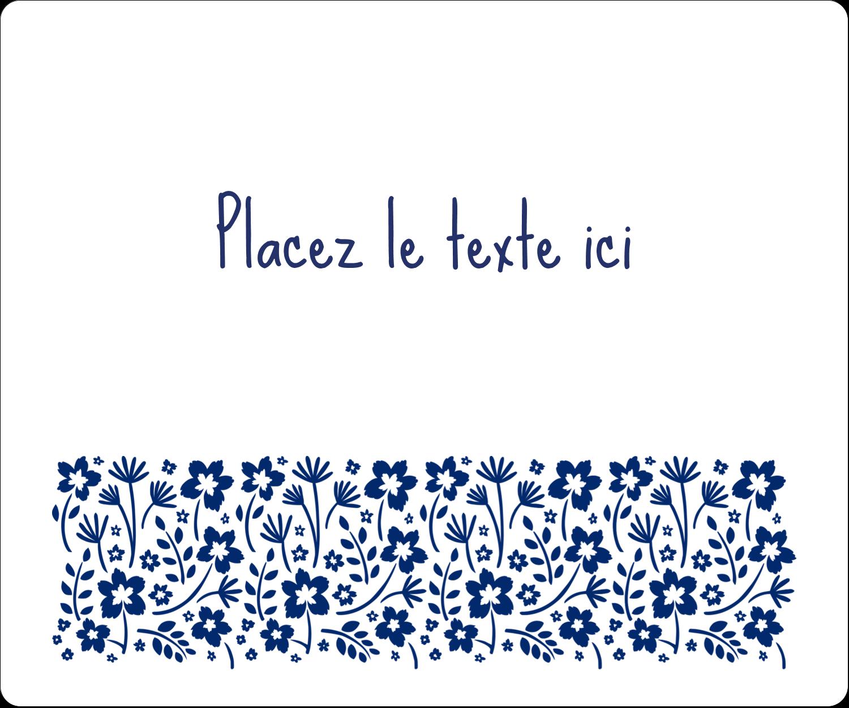 """3-7/16"""" x ⅔"""" Étiquettes de classement - Petit bouquet bleu"""