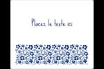 Petit bouquet bleu Étiquettes de classement - gabarit prédéfini. <br/>Utilisez notre logiciel Avery Design & Print Online pour personnaliser facilement la conception.