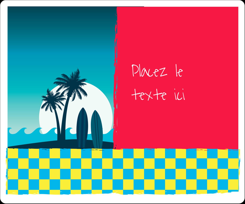 Surf tropical Étiquettes de classement - gabarit prédéfini. <br/>Utilisez notre logiciel Avery Design & Print Online pour personnaliser facilement la conception.