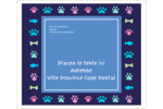 Amis poilus Étiquettes de classement - gabarit prédéfini. <br/>Utilisez notre logiciel Avery Design & Print Online pour personnaliser facilement la conception.