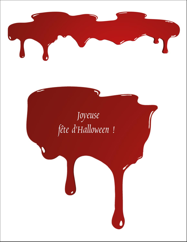 """5½"""" x 8½"""" Cartes Et Articles D'Artisanat Imprimables - Halloween sanglante"""