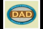 Le meilleur papa Cartes Et Articles D'Artisanat Imprimables - gabarit prédéfini. <br/>Utilisez notre logiciel Avery Design & Print Online pour personnaliser facilement la conception.