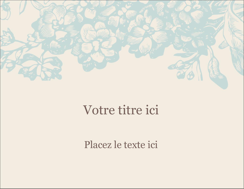 """1¾"""" x ½"""" Étiquettes D'Identification - Fleur bleue"""