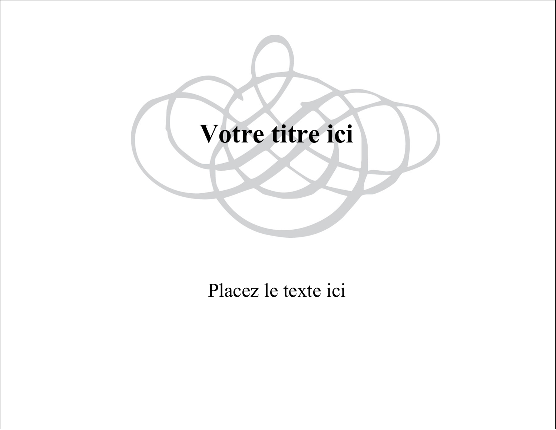 """8½"""" x 11"""" Étiquettes D'Identification - Monogramme de mariage"""
