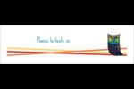 Hibou rusé Affichette - gabarit prédéfini. <br/>Utilisez notre logiciel Avery Design & Print Online pour personnaliser facilement la conception.