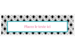Damas décoratif Affichette - gabarit prédéfini. <br/>Utilisez notre logiciel Avery Design & Print Online pour personnaliser facilement la conception.