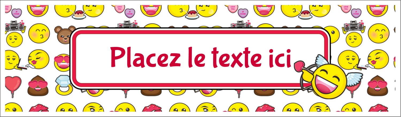 "2½"" x 8½"" Affichette - Émoji de Saint-Valentin"