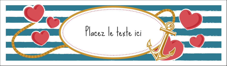 """2½"""" x 8½"""" Affichette - Ancre de Saint-Valentin"""