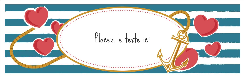 """3½"""" x 11"""" Affichette - Ancre de Saint-Valentin"""