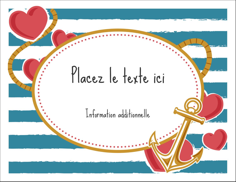 """4¼"""" x 5½"""" Cartes de notes - Ancre de Saint-Valentin"""