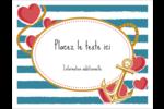 Ancre de Saint-Valentin  Cartes de notes - gabarit prédéfini. <br/>Utilisez notre logiciel Avery Design & Print Online pour personnaliser facilement la conception.