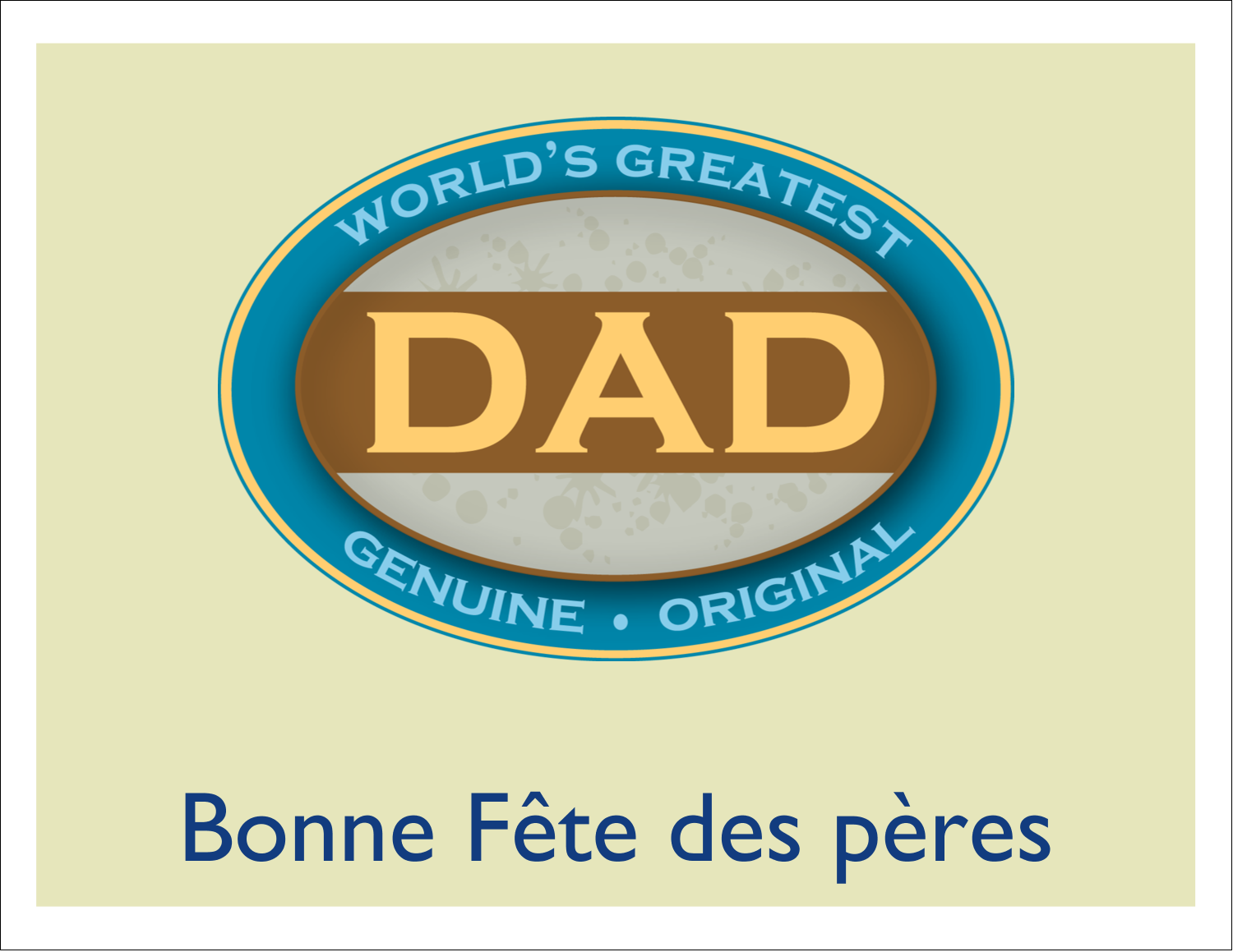 "4¼"" x 5½"" Cartes de notes - Le meilleur papa"