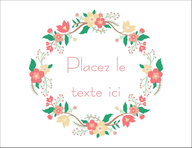 """8½"""" x 11"""" Cartes Et Articles D'Artisanat Imprimables - Couronne florale"""