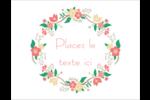 Couronne florale Cartes Et Articles D'Artisanat Imprimables - gabarit prédéfini. <br/>Utilisez notre logiciel Avery Design & Print Online pour personnaliser facilement la conception.
