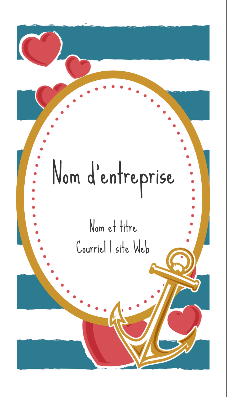 """2"""" x 3½"""" Cartes d'affaires - Ancre de Saint-Valentin"""
