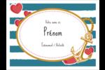 Ancre de Saint-Valentin  Étiquettes badges autocollants - gabarit prédéfini. <br/>Utilisez notre logiciel Avery Design & Print Online pour personnaliser facilement la conception.