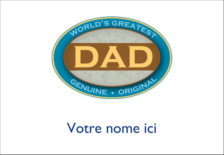 """3⅜"""" x 2⅓"""" Badges - Le meilleur papa"""