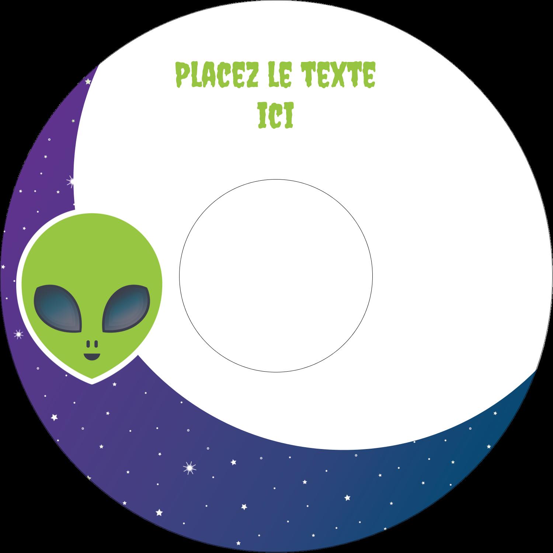 CD/DVD Étiquettes Pour Médias - Fête d'extraterrestres