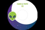 Fête d'extraterrestres Étiquettes Pour Médias - gabarit prédéfini. <br/>Utilisez notre logiciel Avery Design & Print Online pour personnaliser facilement la conception.