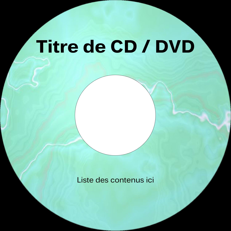 CD/DVD Étiquettes Pour Médias - Agate