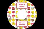 Émoji de Saint-Valentin Étiquettes Pour Médias - gabarit prédéfini. <br/>Utilisez notre logiciel Avery Design & Print Online pour personnaliser facilement la conception.