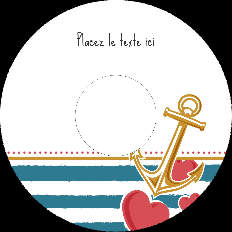 CD/DVD Étiquettes Pour Médias - Ancre de Saint-Valentin