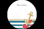 Ancre de Saint-Valentin  Étiquettes Pour Médias - gabarit prédéfini. <br/>Utilisez notre logiciel Avery Design & Print Online pour personnaliser facilement la conception.