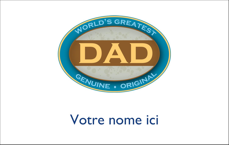 """2¼"""" x 3½"""" Badges - Le meilleur papa"""