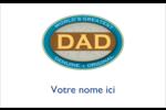 Le meilleur papa Badges - gabarit prédéfini. <br/>Utilisez notre logiciel Avery Design & Print Online pour personnaliser facilement la conception.