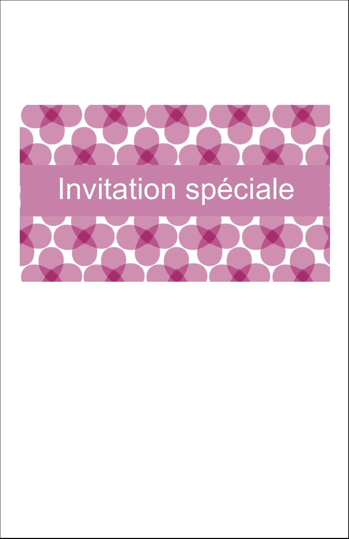 """8½"""" x 11"""" Binder Insert Reliures - Fleurs violettes"""