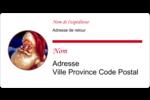 Père Noël rétro Étiquettes d'expéditions - gabarit prédéfini. <br/>Utilisez notre logiciel Avery Design & Print Online pour personnaliser facilement la conception.