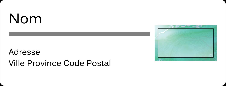 Agate Étiquettes D'Adresse - gabarit prédéfini. <br/>Utilisez notre logiciel Avery Design & Print Online pour personnaliser facilement la conception.