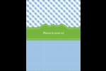 Guingan vert et bleu Reliures - gabarit prédéfini. <br/>Utilisez notre logiciel Avery Design & Print Online pour personnaliser facilement la conception.