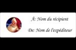 Père Noël rétro Étiquettes Voyantes - gabarit prédéfini. <br/>Utilisez notre logiciel Avery Design & Print Online pour personnaliser facilement la conception.
