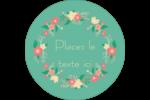 Couronne florale Étiquettes arrondies - gabarit prédéfini. <br/>Utilisez notre logiciel Avery Design & Print Online pour personnaliser facilement la conception.