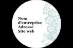 Fleur bleue Étiquettes arrondies - gabarit prédéfini. <br/>Utilisez notre logiciel Avery Design & Print Online pour personnaliser facilement la conception.